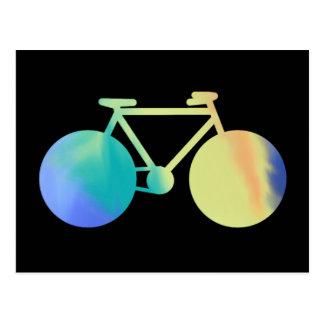 Carte Postale bicyclette d'aquarella