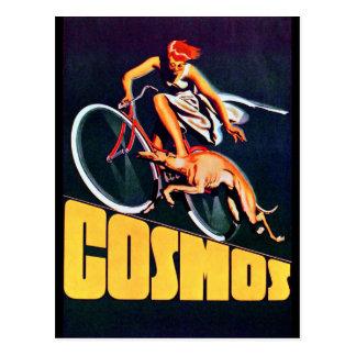 Carte Postale Bicyclette de lévrier de cosmos