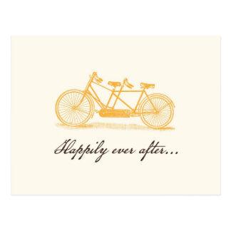 Carte Postale Bicyclette vintage construite pour la Deux-Coutume