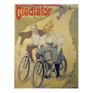 Carte Postale Bicyclettes de gladiateur de publicité par