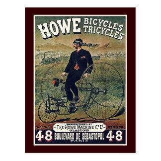 Carte postale : Bicyclettes et tricycles de Howe