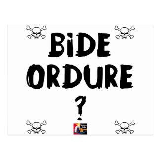 Carte Postale BIDE ORDURE ? - Jeux de Mots - Francois Ville