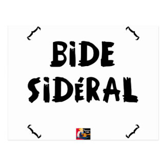 CARTE POSTALE BIDE SIDÉRAL