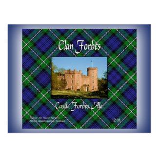 Carte Postale Bière anglaise de Forbes de château de Forbes de