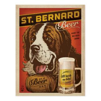 Carte Postale Bière de St Bernard