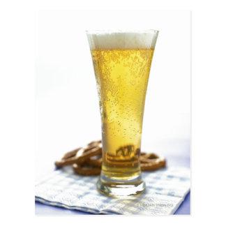 Carte Postale Bière et bretzels
