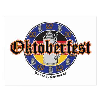 Carte Postale Bière et bretzels d'Oktoberfest