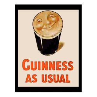 Carte Postale Bière noire irlandaise