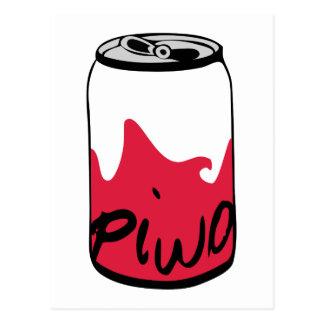 Carte Postale Bière polonaise (Piwo)