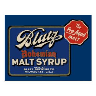 Carte Postale Biere Vintage De Blatz