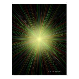 Carte Postale Big Bang, illustration conceptuelle d'ordinateur.
