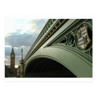 Carte Postale Big Ben et pont de Westminster