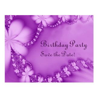 Carte Postale Bijou floral pourpre, fête d'anniversaire