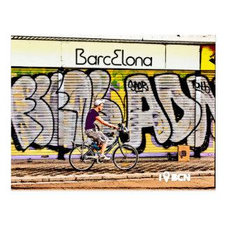 Carte Postale Bike riding on Barcelone, Spain