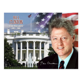 Carte Postale Bill Clinton - quarante-deuxième président des