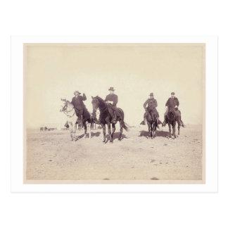 Carte Postale Bill Cody et cavaliers
