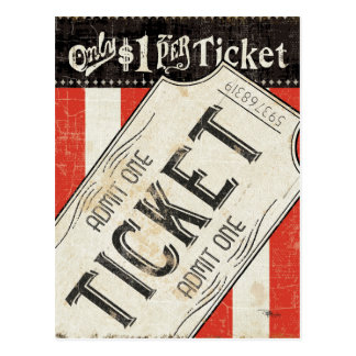 Carte Postale Billet vintage de film