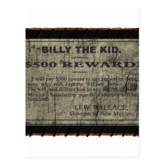 Carte Postale Billy l'enfant a voulu l'affiche