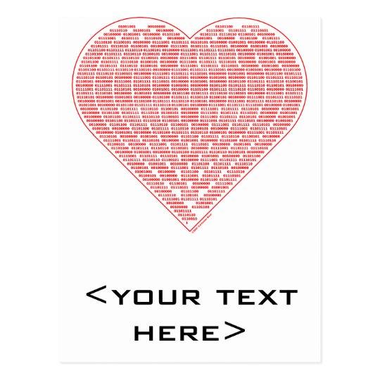 Carte postale binaire de Valentine
