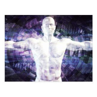 Carte Postale Biotechnologie du futur résumé comme art