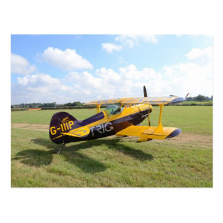 Carte Postale Biplan acrobatique aérien sur The Field