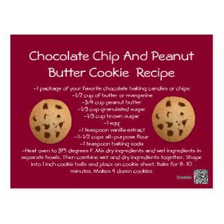 Carte Postale Biscuit de beurre d'arachide de puce de chocolat