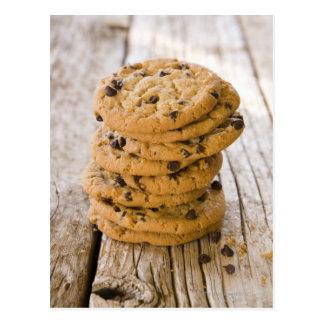 Carte Postale biscuits 2 de puce de chocolte