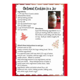 Carte Postale Biscuits de farine d'avoine dans une recette de