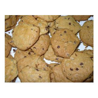 Carte Postale Biscuits de farine d'avoine de puce de chocolat