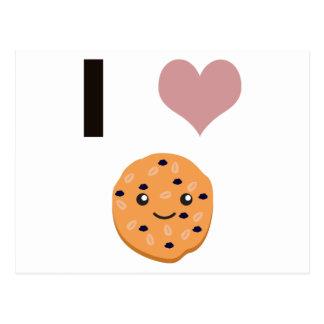 Carte Postale Biscuits de farine d'avoine du coeur I
