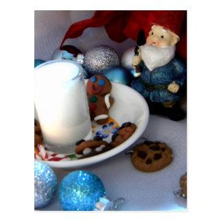 Carte Postale Biscuits et gnome II de lait