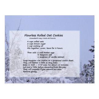 Carte Postale Biscuits Flourless d'avoine
