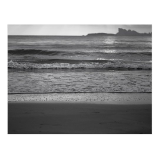 Carte Postale Black and white photography with seaside landscape
