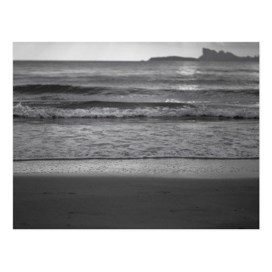 Carte Postale Black and white seaside landscape