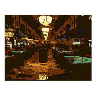 Carte Postale Black Jack et Tableaux de tisonnier à Las Vegas