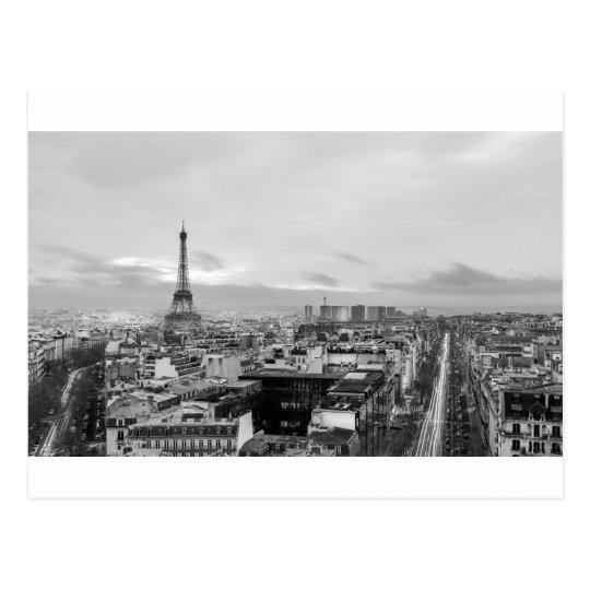 Carte Postale Black&White: Eiffel Tower, Paris, France
