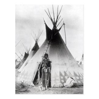 Carte Postale Blackfoot courageux, près de Calgary, Alberta,