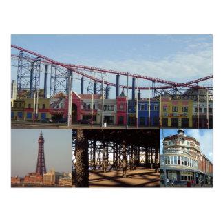 Carte Postale Blackpool 4 images