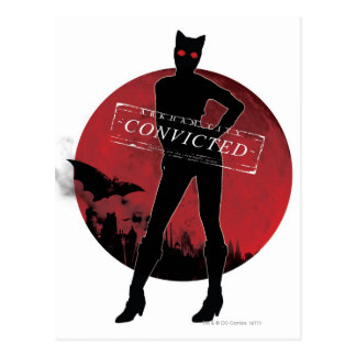 Carte Postale Blanc condamné par Catwoman