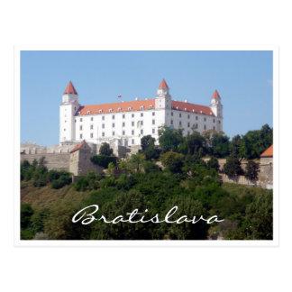 Carte Postale blanc de Bratislava de château