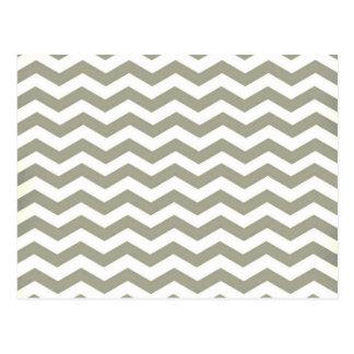 Carte Postale Blanc gris vintage Chevron. Motif de zigzag