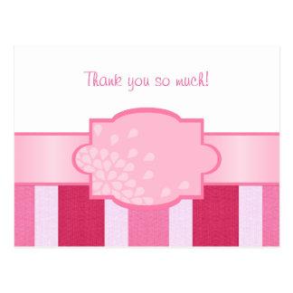 Carte Postale Blanc - le rose barre le Merci