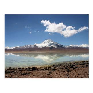 Carte Postale blanca de Laguna (Bolivie)