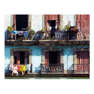 Carte Postale Blanchisserie sur des balcons, Paseo del Prado,