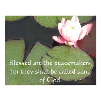 Carte Postale Blessed sont les conciliateurs, parce que ils