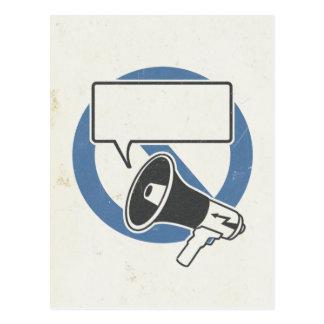 Carte Postale Bleu de censure
