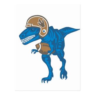 Carte Postale Bleu de dinosaure du football