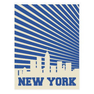 Carte Postale Bleu de New York City