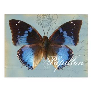 Carte Postale Bleu de Papillon