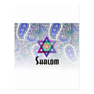 Carte Postale Bleu de Shalom Paisley